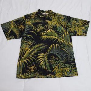 Tommy Bahama Hawaiian Shirt Mens Small 100% Silk